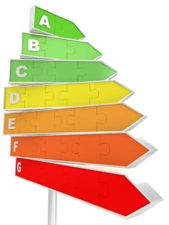 Energy saving concept with billboard Stock Photo