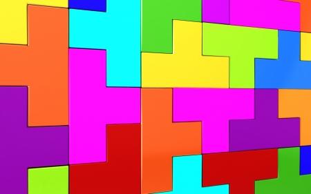 3d puzzle. photo