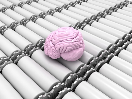 3d conveyor with brain photo