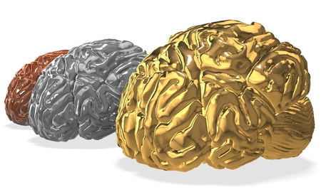 3d brain competition. Stock Photo