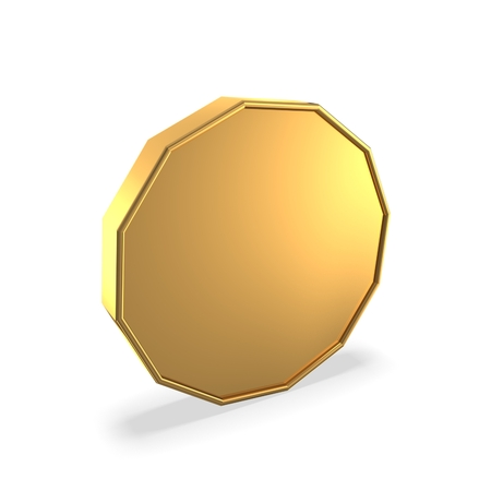 3d golden coin Stock Photo