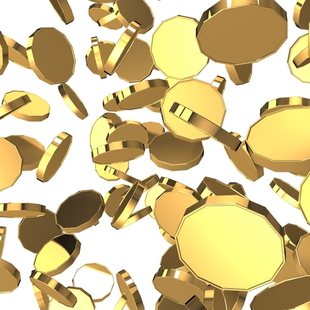 3d golden coins. Bingo Stock Photo
