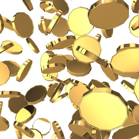 3d golden coins. Bingo Stock Photo