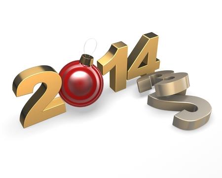 Happy new year 2014. Change concept