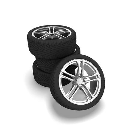 Wheels isolated on white