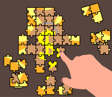 Abstraction of a business plan. Puzzle.