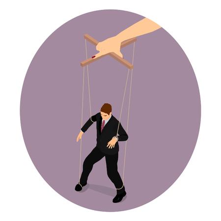 Mano de mujer. El hombre es un juguete en manos de la mujer.