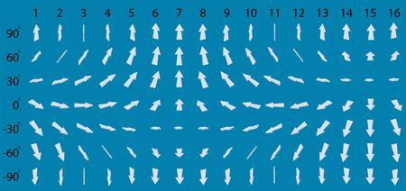 Big set of arrows. Isometric. Иллюстрация