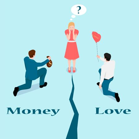 A woman can not choose a man. Difficult romantic choice: rich or man with love?