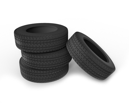 Stack Of Car Tires photo