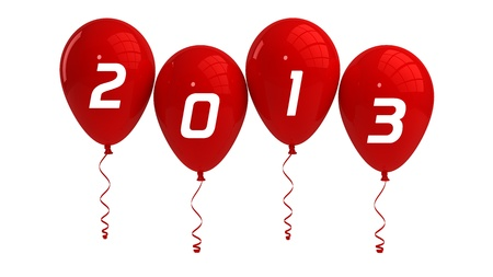 Year 2013 Red Balloons photo