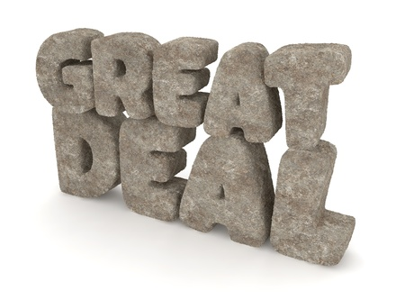 GREAT DEAL made of Stone   Concrete Stock Photo - 14416741