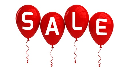 SALE balloons, red, isolated Stock Photo - 15327768