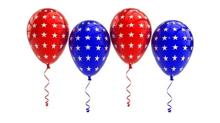 USA Balloons, 4th july, isolated