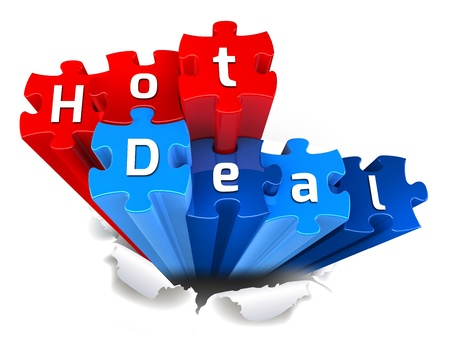 exclusive HOT DEAL puzzle and torn paper Stock Photo - 15327774