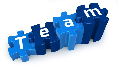 Team puzzle text Stock Photo - 15327767