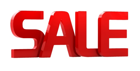 SALE 3D red color Stock Photo - 15327763