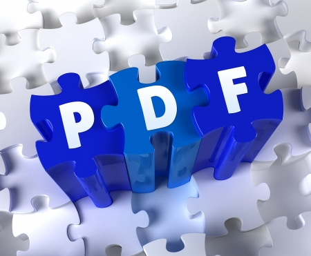 Creative 3D pieces of puzzle and word PDF
