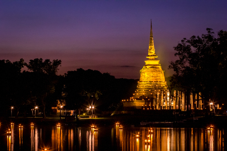 Loy Kra Tong At Sukhothai.