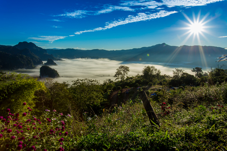 Phu Lung Ka At Sunrise, cloud in vale