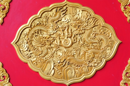 golden dragon, chinese styles in Thailand photo