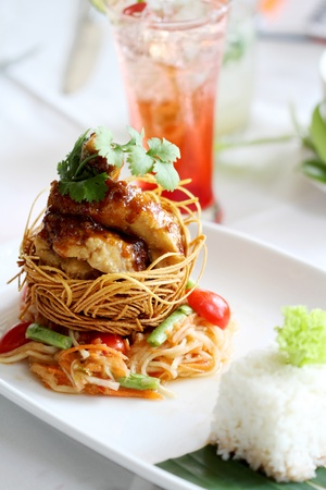 A disk of Thai food Stock Photo - 9710704