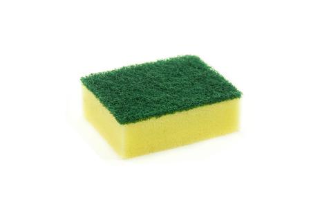 finery: washing sponge isolated on white background.