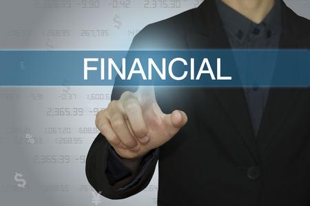 contabilidad financiera cuentas: hombre de negocios con la contabilidad y concepto financiero.