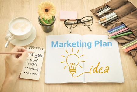 Marketingpaln  Ideas think Concept.