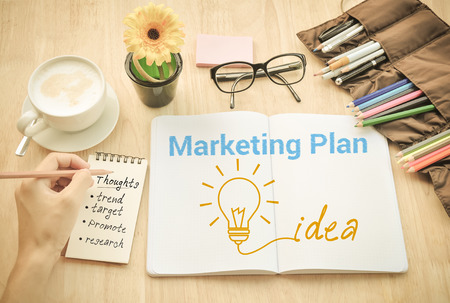 search marketing: Marketingpaln  Ideas think Concept.