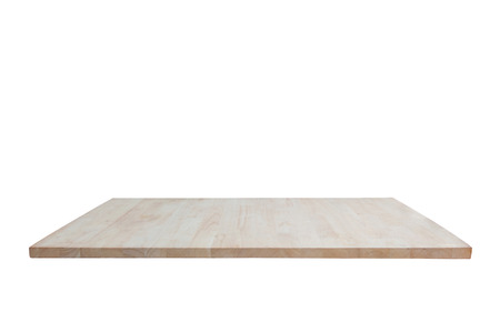 table top: Wood table top isolated on white background.