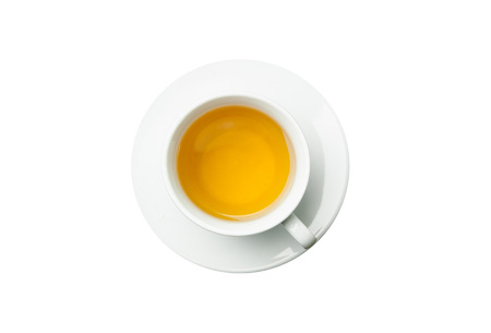 stimulated: Cup of tea isolated on white background.