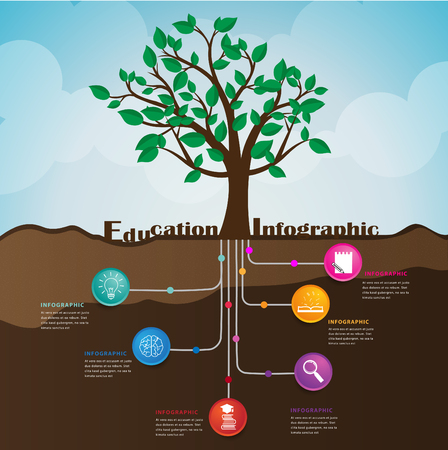 Root of education ,can used for infographic and presentation.