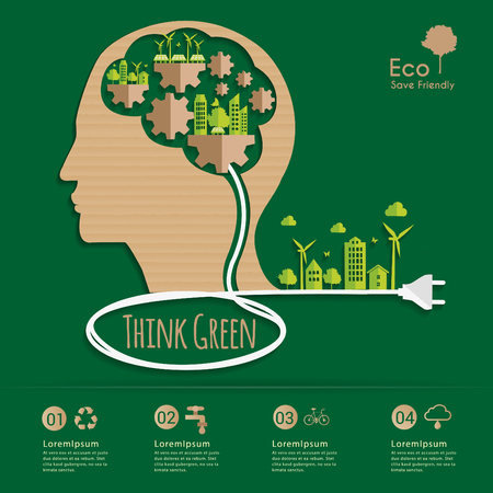 the thinker: Environmental Systems Thinker. Illustration