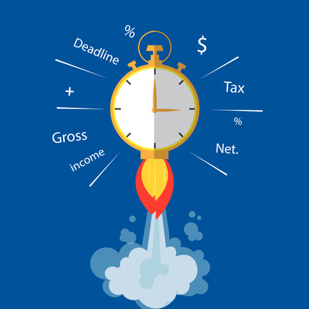 tax time: Tax time concept.