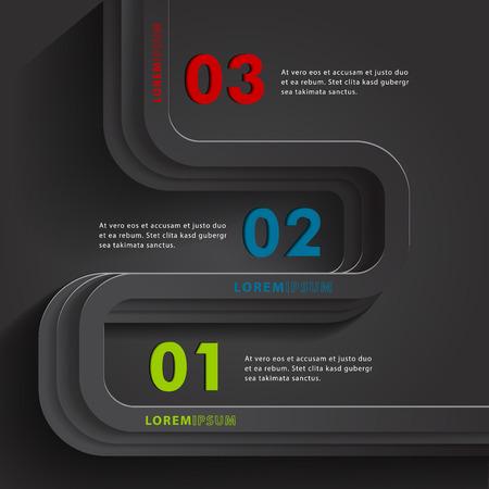 timelines: Modern Infographic design element banner.