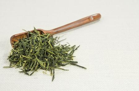 sencha tea: Tea (Sencha)  on white background.