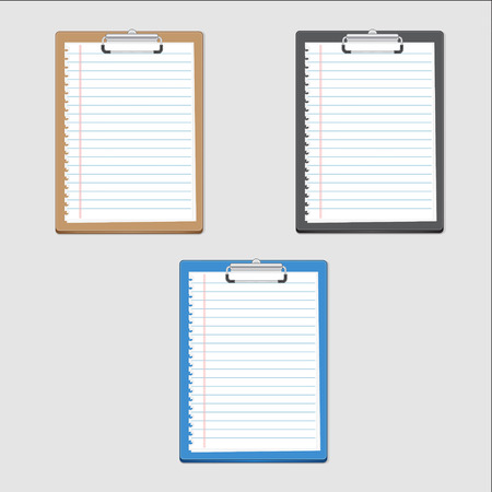 notepaper: Clipboard blank on notepaper. can used for icon,inforaphic and design.