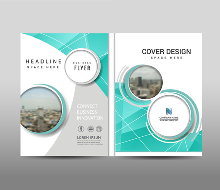 Circle shape on background.Brochure template layout, cover design, annual report,magazine,Leaflet,presentation background, design. and booklet in A4 with Illustration.