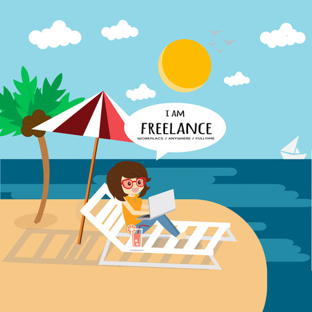Im freelance, l could work anywhere and slow life.