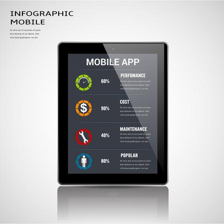 mock up: Smart phonel tablet mock up. Illustration
