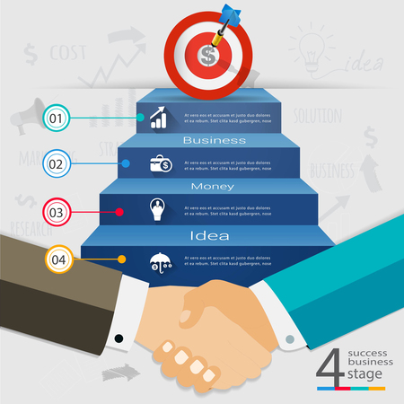 ビジネス ハンドシェイクが成功へ参加です。データ、図、ビジネス プレゼンテーション、教育、背景、サイン、バナーを使用することができます。