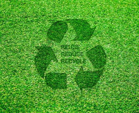 World Environment Day. lets save the world.ecology concept, Reuse, Reduce, Recycle concept. Eco design - Green and Sustainable, vector grass blurred background .