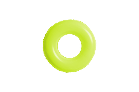 green swimming pool ring isolated on white background.