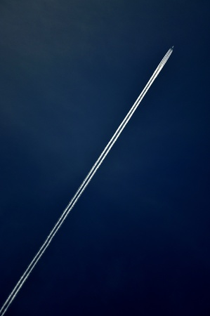 Airplane in the sky photo