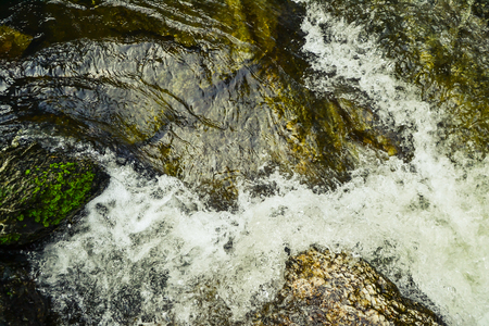 Water flowing down from the mountains.