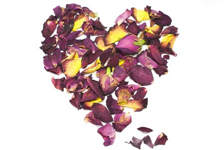 Heart of rose petals