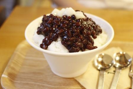 sherbet: korean dessert, patbingsu