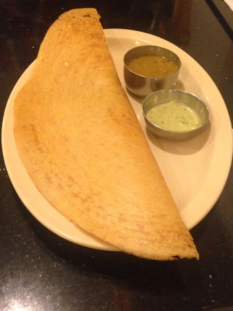 indo: Indian food which is called dosa