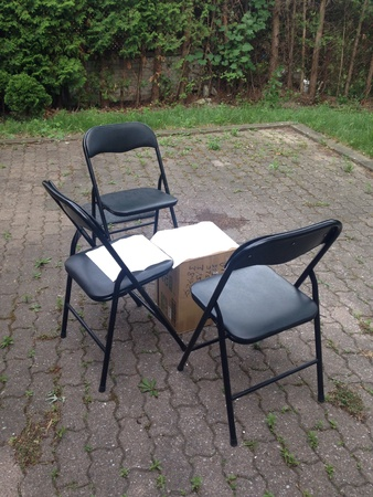 chairs: Chairs in the backyard